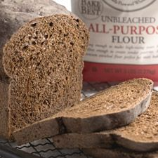 A deep/dark, aromatic pumpernickel-flavored loaf, made the easy way with Pumpernickel Plus Bread Base.