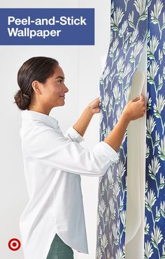 Switch up any wall with an easy-to-use removable wallpaper available in a variety of patterns, from floral to retro & bold designs. Look Wallpaper, Peel And Stick Wallpaper, Target Wallpaper, Purple Wallpaper, Bathroom Wallpaper, Home Wall Decor, Cheap Home Decor, Diy Home Decor, Decoration Crafts