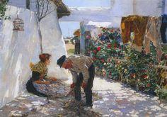 Joaquin Sorolla y Bastida, (Spanish, 1863-1923) Reti da pesca - Fishing Nets - (1893)