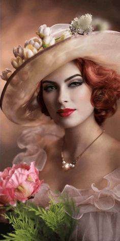 Beautiful Fantasy Art, Beautiful Gif, Beautiful Women, Romantic Girl, Foto Art, Animation, Elegant Woman, Belle Photo, Female Art