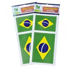 Souvenir do Brasil - Adesivo em Vynil PVC - Bandeiras do Brasil OBS: Cada cartela vêm com dois adesivos em tamanhos diferentes.   Descrição: Adesivo em PVC de alta qualidade anti-UV e à prova d'água Tamanho 1: 5,5cm x 3,8cm Tamanho 2: 7,80cm x 5,5cm Embalagem: Plástica