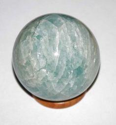 Piece unique ! belle sphère en aragonite bleue 342 g