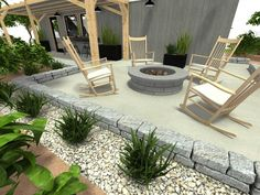 Gathering around a fire pit ⭐ Lazy Summer Days, Home Design Software, Well Thought Out, Back Patio, Outdoor Areas, Tiny Homes, Backyard, Layout, Indoor