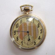 aec634c1d Elgin 1000 Gold-Filled Pocket Watch with Illinois Case. Reloj De  BolsilloBolsillosArte ...