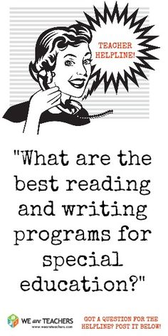 What are the best reading and writing programs for special education? #weareteachers