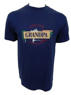 Grandpa Limited Edition Embroidered Woodworking Tools T-Shirt Size M Medium  #Hanes #GraphicTee