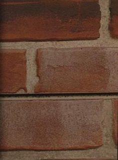 Red Brick Slat-Design Textured Slatwall