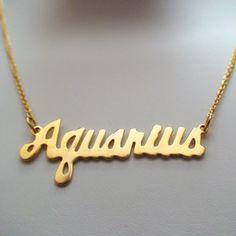 FashionJunkie4Life - Gold Aquarius Horoscope Jewelry