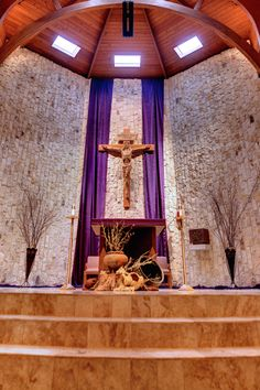 love the pots in front of the altar