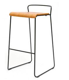 m.a.d Furniture Design, Ash & Black Transit Bar Stool,47 x 47 x 84.5cm, Seat height 77cm, Retail $286.00