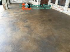 Stained concrete textured overlay on back patio by Texoma Concrete Effects, Iowa Park, TX