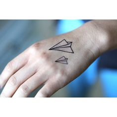 Paper Plane - Spirit Ink Temporary Tattoo ($2.49) ❤ liked on Polyvore featuring accessories, body art, tattoos, tatoo, pictures and tattos