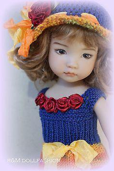 """r&m dollfashion яркая линия OOAK наряд для EFFNER LITTLE DARLING 13 """"кукла"""