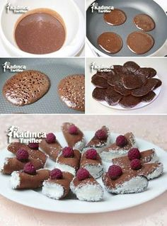 Bridal Bag Recipe, How To – Womanly Recipes – Delicious, Practical and Most Delicious Recipes Site - Schokolade Crepes And Waffles, Most Delicious Recipe, Cheesecake Brownies, Xmas Food, Sweet Tarts, Turkish Recipes, Desert Recipes, Chocolate Desserts, Easy Desserts
