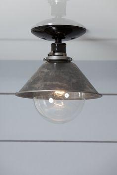 Steel Metal Shade Light - Semi Flush Mount Lamp - Industrial Light Electric - 1