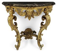 A REGENCE GILTWOOD CONSOLE TABLE -  CIRCA 1720-30