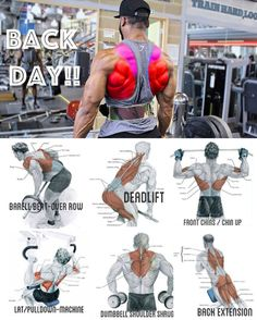 Fitness workouts back bodybuilding 68 Ideas Fitness Workouts, Weight Training Workouts, Fun Workouts, Back Workouts For Men, Back Workout Men, Good Chest Workouts, Yoga Fitness, Workout Programs For Men, Back And Bicep Workout