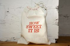 these muslin gift bags by Bird & Banner are a sweet green alternative for wrapping gifts.