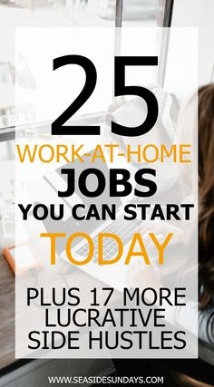 Make money fast with these ideas for earning a side income at home and online. Easy ways to make extra money for SAH moms and college students. Tips for making money with Etsy, writing, online and working from home. Learn about flexible jobs that pay immediately. If you want to make money from home, these 75 jobs will give you great ideas and options. If you are looking for the perfect side hustle, you need to check out this list, there are tons of free courses that can help to make mo...