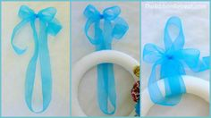 An easy way to hang a wreath with ribbon.