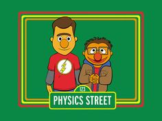 Big Bang / Sesame Street inspired tshirt S M L and by TeeMinus24, $15.99