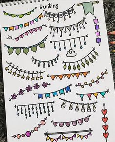 Stationery Pal These buntings are so colorful it must be an awesome element for your bullet journal Credit to Borders Bullet Journal, Bullet Journal Lettering Ideas, Bullet Journal Banner, Journal Fonts, Bullet Journal Notebook, Bullet Journal Aesthetic, Bullet Journal School, Bullet Journal Ideas Pages, Bullet Journal Inspiration