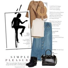 Untitled #1346 by lindagama on Polyvore featuring polyvore, fashion, style, TIBI, H&M, Current/Elliott, Rupert Sanderson, Givenchy, Balmain, Boots, midi, skirts and denimskirt