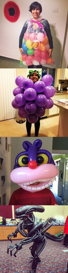 Sometimes all you need for a good Halloween costume are balloons.