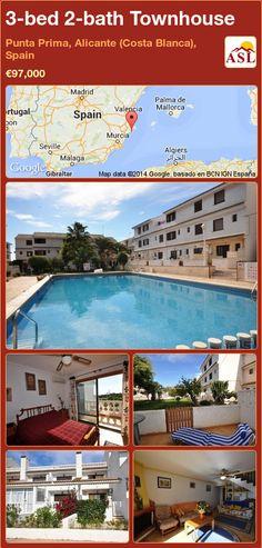 3-bed 2-bath Townhouse in Punta Prima, Alicante (Costa Blanca), Spain ►€97,000 #PropertyForSaleInSpain