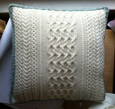 Cable Pillow #1 by Suzanne Bryan
