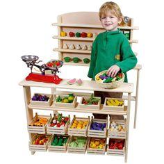 Dag van de klant bij Speelgoed Kiki! Kom eens langs in onze winkel, of speel thuis zelf #dvdk14 met dit houten speelgoed winkeltje!