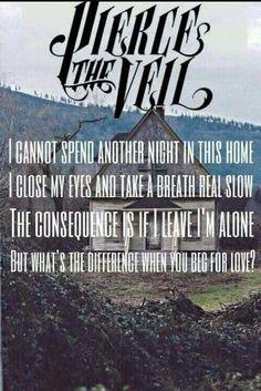 Pierce the veil lyrics Ptv Lyrics, Pierce The Veil Lyrics, Music Lyrics, Pierce The Veil Quotes, Band Quotes, Lyric Quotes, Beg For Love, Song One, My Chemical Romance