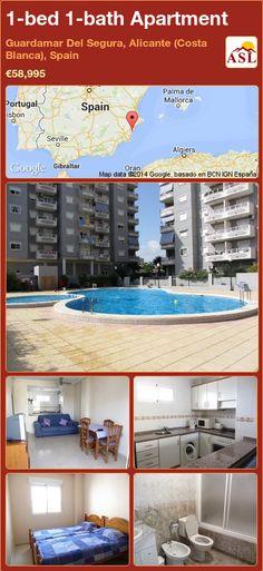 1-bed 1-bath Apartment in Guardamar Del Segura, Alicante (Costa Blanca), Spain ►€58,995 #PropertyForSaleInSpain