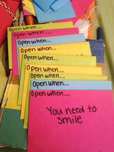 """Open When"" letters to a loved one"