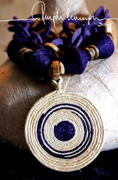 Balungi Necklace PurpleLining