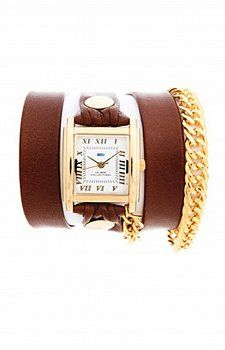 LA MER COLLECTIONS GOLD GLAM WATCH