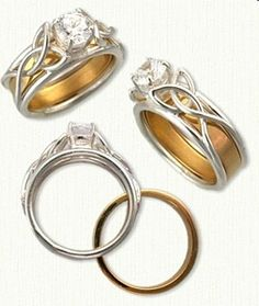 Open Wire Vanessa Knot Reverse Cradle Engagement Rings - custom celtic engagement rings with gemstones, diamonds @ best prices!