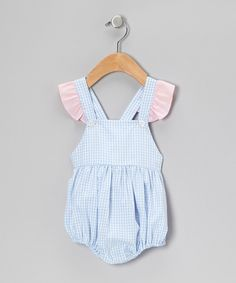 Take a look at this Blue Gingham Bubble Bodysuit - Infant & Toddler on zulily today!