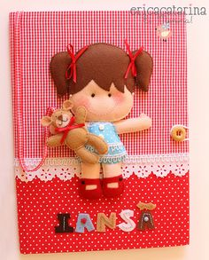 Caderno decorado by Ei menina! - Erica Catarina, via Flickr