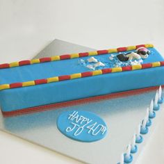 Lap pool and swimmer - That's My Cake