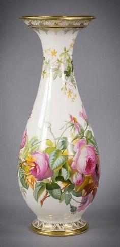 Váza • malovaný porcelán, Paříž