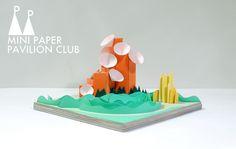 The Carl Sagan Periphery Introception Pavilion; model / paper / architecture / pavilion / miniature / vancouver / MPPC / mini paper pavilion club