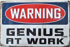 Warning Artist At Work Metal Tin Sign Poster Wall Plaque & Garden