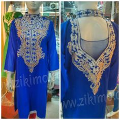 Designer Blue Embroidered Kurti  Product Code : ZK0AT1012  Rs. 1240- Only  For Queries: Mail Us : care@zikimo.com Whats App, Line, We Chat or Call us : +91-8284 833 733