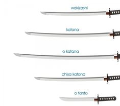 differences between katana tipes