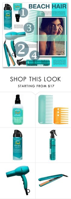 """""""beach hair"""" by nanawidia ❤ liked on Polyvore featuring beauty, Bumble and bumble, beachhair, contestentry, polyvoreeditorial and polyvorecontest"""