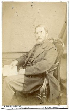 Carte De Visite Of A Seated Gentleman With Beard Portrait By The London School Photography Cheapside Signed On Reverse C D Bedford