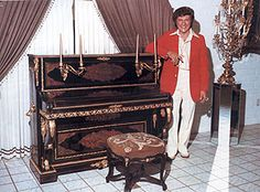 Liberace the great pianist that he was had a great piano collection distributed among his many homes, some having belonged to some of the classical greats in Europe.