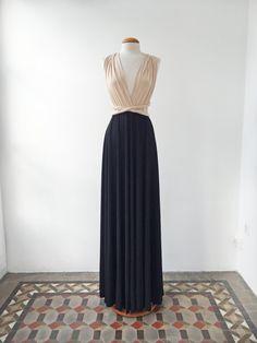 Nude black dress nude long dress black long dresses by mimetik