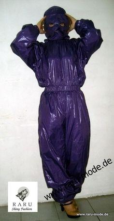 New shiny nylon wet look overalls jumpsuit with mask custom made S - Nylons, Feminized Boys, Plastic Raincoat, Wet Look, Snow Suit, Rain Wear, Harem Pants, Overalls, Jumpsuit